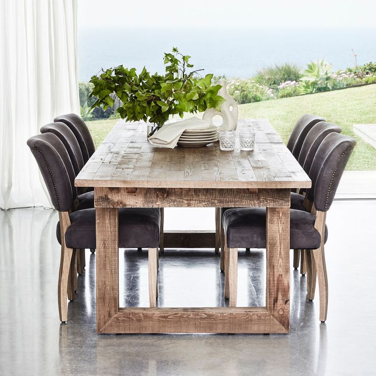 Handcrafted from genuine English reclaimed timber sourced from old buildings in the UK, some up to 100 years old, the Causeway Dining Table is the perfect podium for convivial dinner parties or big family gatherings #CocoRepublic #TimothyOulton #dining #interior