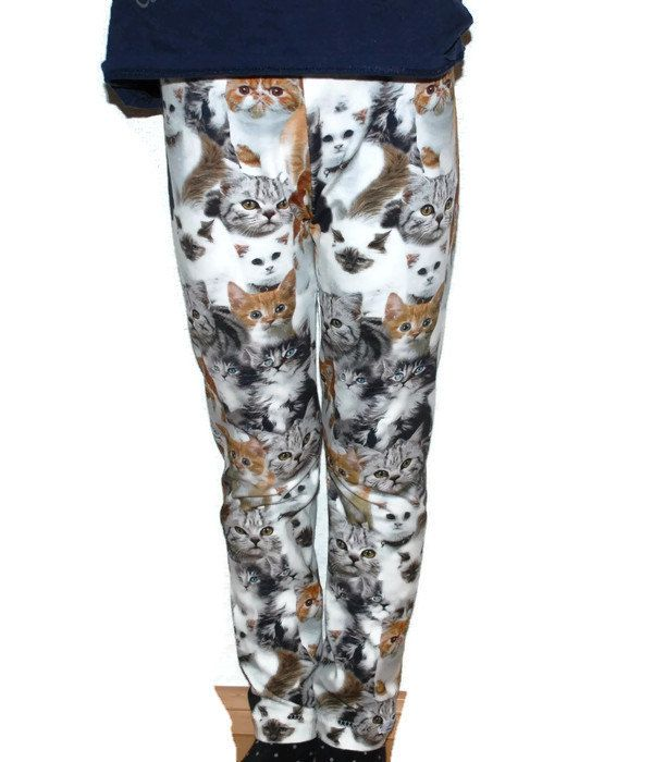 Cat print leggings/pants for girls 5-6y (22.00 EUR) by leonorafi
