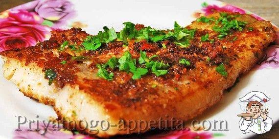 Вкусная жареная рыба