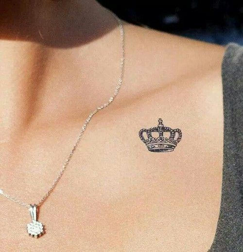 #crown #tattoo #girly