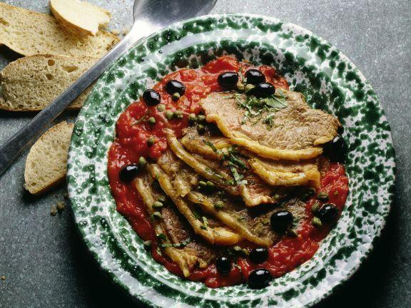 Roastbeef in Tomaten-Kapernsauce ist ein Rezept mit frischen Zutaten aus der Kategorie Kochen. Probieren Sie dieses und weitere Rezepte von EAT SMARTER!