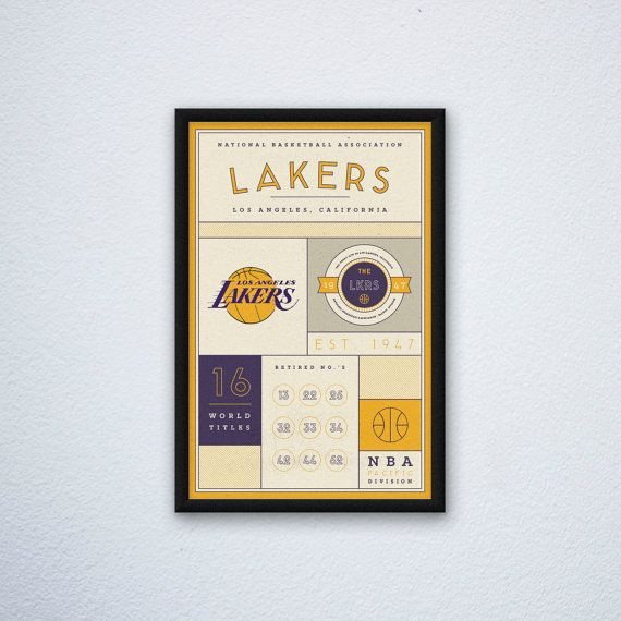 Los Angeles Lakers Stats Print by DesignsByEJB on Etsy