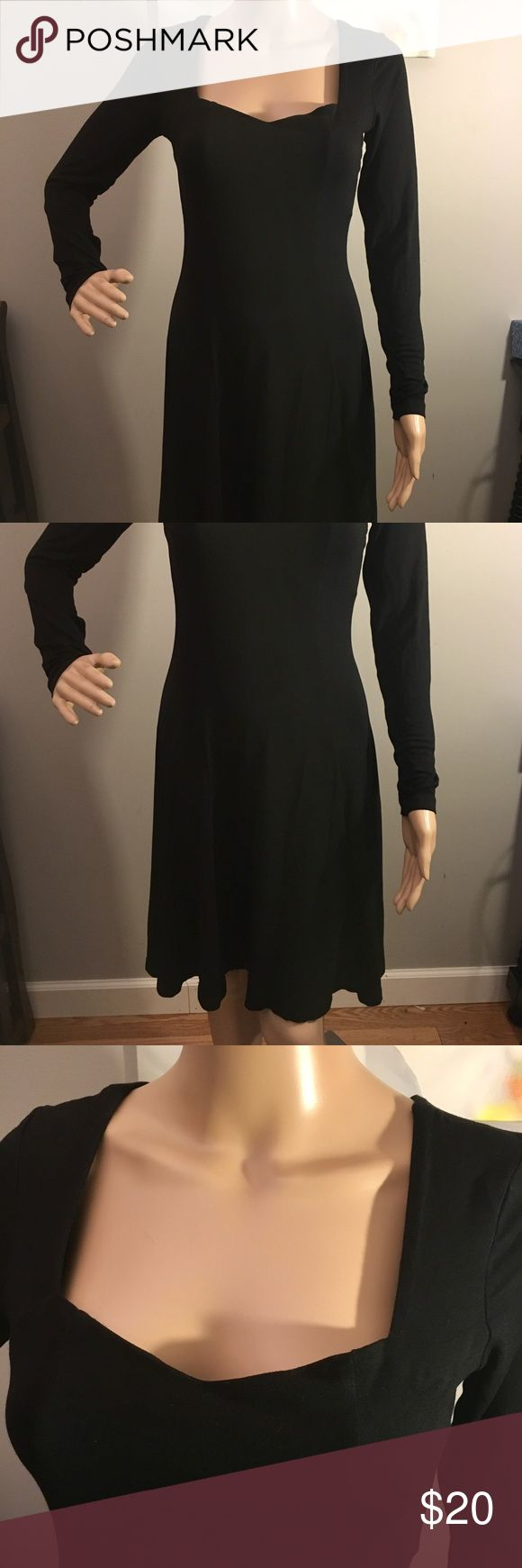 "ASOS jersey dress. Size 6L Comfy ASOS Jersey long sleeve dress.  Black.  95% viscose 5% elastic.  Size 6L  No rips or stains.  Measures 16"" pit to pit.  Sleeves are 24"" from shoulder.  Length is 36"" from shoulder.  Check out my other listings to bundle and save 🎉 ASOS Dresses"