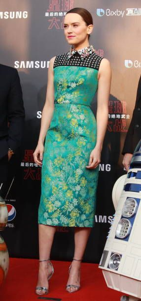 Actress Daisy Ridley arrives at the premiere of film 'Star Wars The Last Jedi' at Shanghai Disney Resort on December 20 2017 in Shanghai China