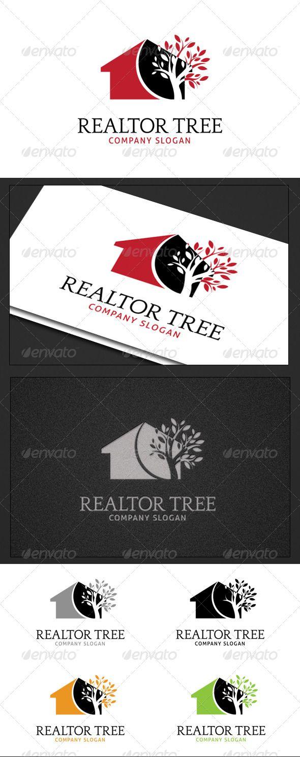 Realtor Tree Tree logos, Logo templates, Tree slogan