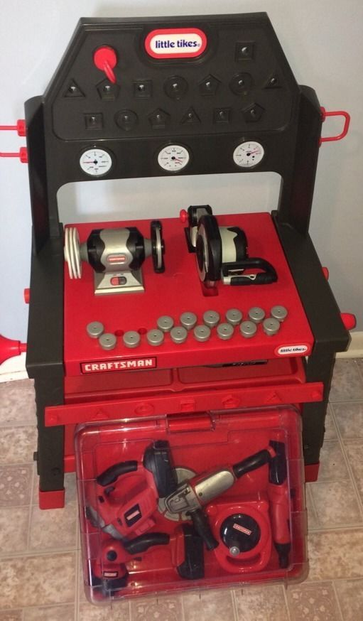 Little Tikes 2 In 1 Craftsman Motor Work Bench Power Tools