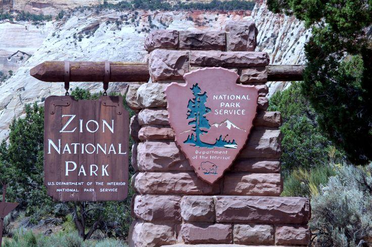 """De naam 'Zion' kreeg dit park van mormoonse pioniers in 1860. De mormonen of """"Heiligen van Jezus Christus van de laatste dagen"""" zijn een religie die vooral in Utah gevestigd is. Afgeleid van het Bijbelse 'Zion', kreeg dit voor hen de betekenis van een plek van rust en veiligheid. Rond 2000 jaar geleden leefden hier """"Anasazi"""" of oude Pueblo-volkeren, tot ongeveer 800 jaar geleden. Toen leefde de stam van de Paiute hier tot de mormoonse pioniers aankwamen"""