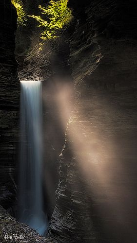 Cavern Cascade, Watkins Glen State Park, New York; photo by .Adam Baker