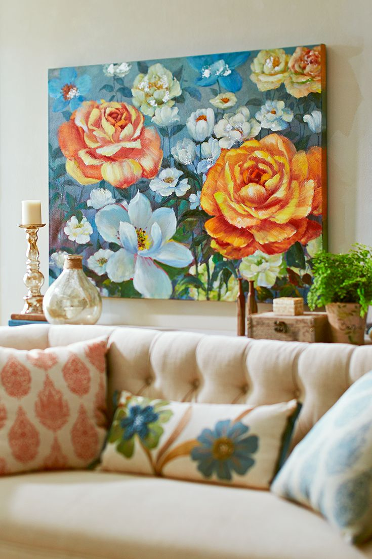 Pier 1's ultra-chic take on the traditional chintz pattern provides the enduring charm of a garden in bloom all year long.
