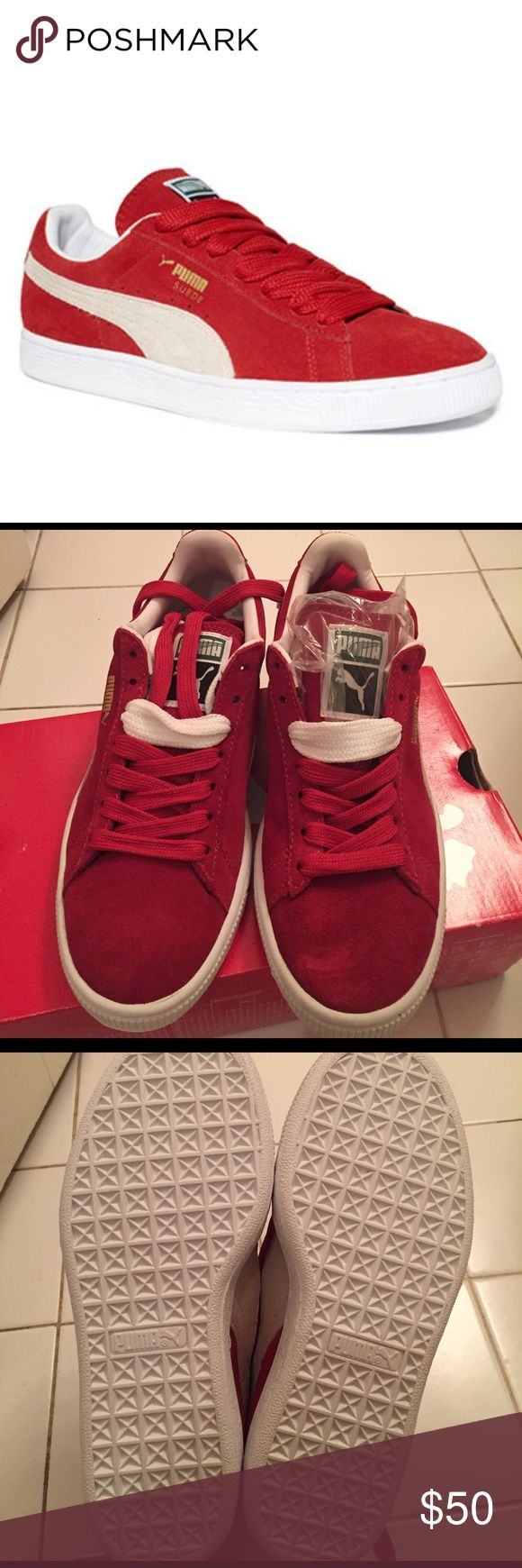 Puma suede classic sneakers High risk red-white-brand new, never worn Puma Shoes Sneakers