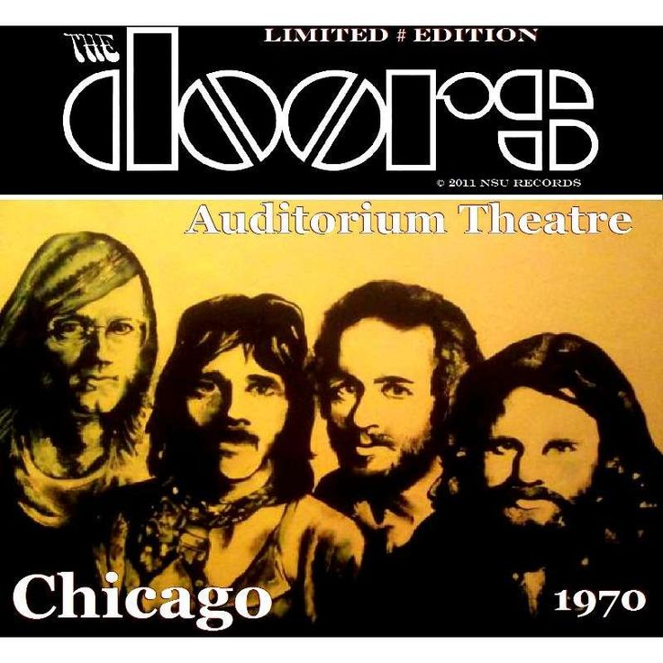 The Doors Auditorium Theatre Chicago 1970 - Australia 2011 - NSU Records #487 | The Doors CDs | Pinterest | Theater chicago February 15 and Chicago