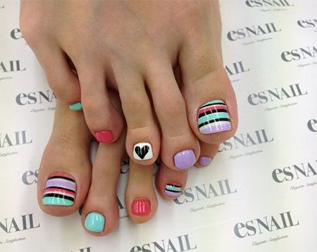 Easy & Cute Toe Nail Art Designs & Ideas 2013/ 2014 For Beginners | Fabulous Nail Art Designs