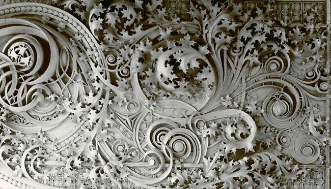 Cast Iron Ornament from Carson, Pirie, Scott & Co., Building, Louis Sullivan, architect, Chicago 1899