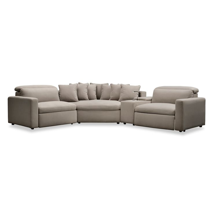 Happy 4-Piece Dual Power Reclining Sectional with Cuddler ...