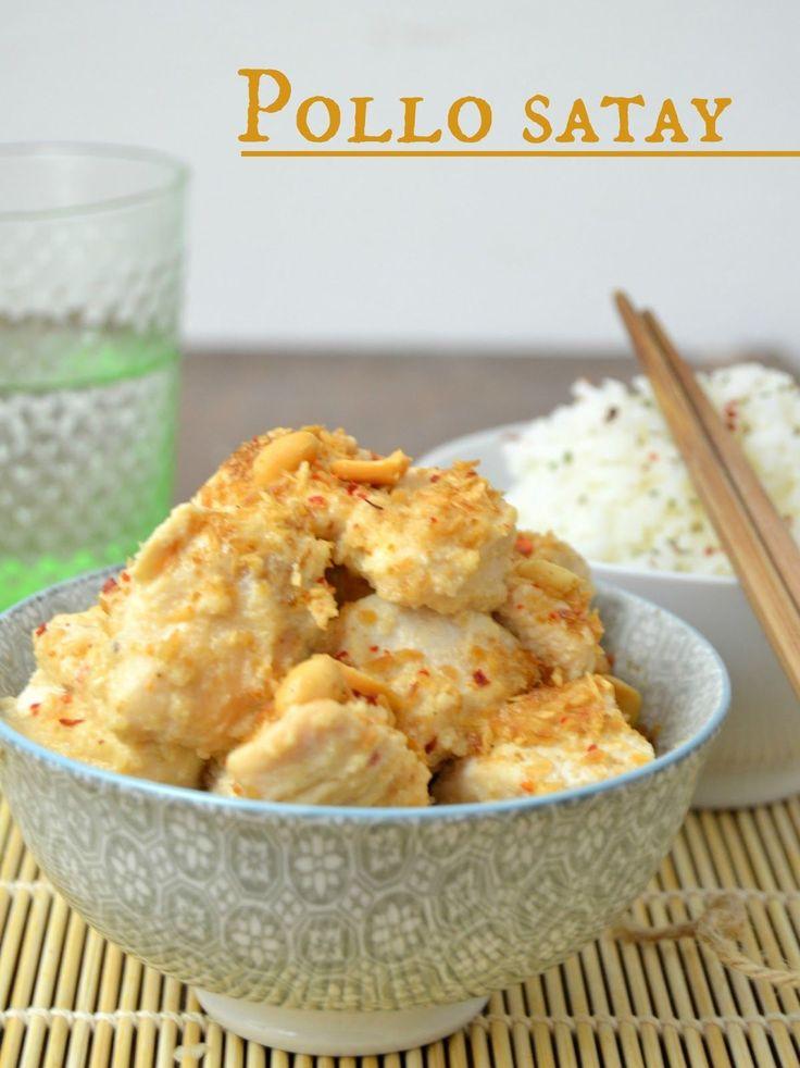 Pollo satay, receta asiatica | Cuuking!