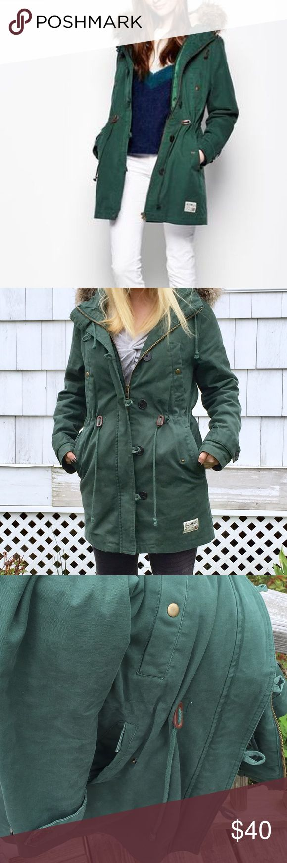 Jack Wills silverdale parka US size 2. EUC. Best fits XS-S imo. Jack Wills Jackets & Coats