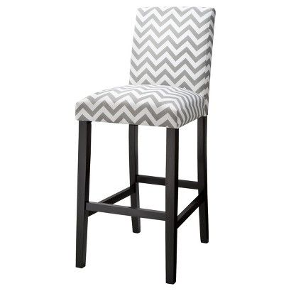 30 Quot Uptown Bar Stool Grey Amp White Chevron If I Have To