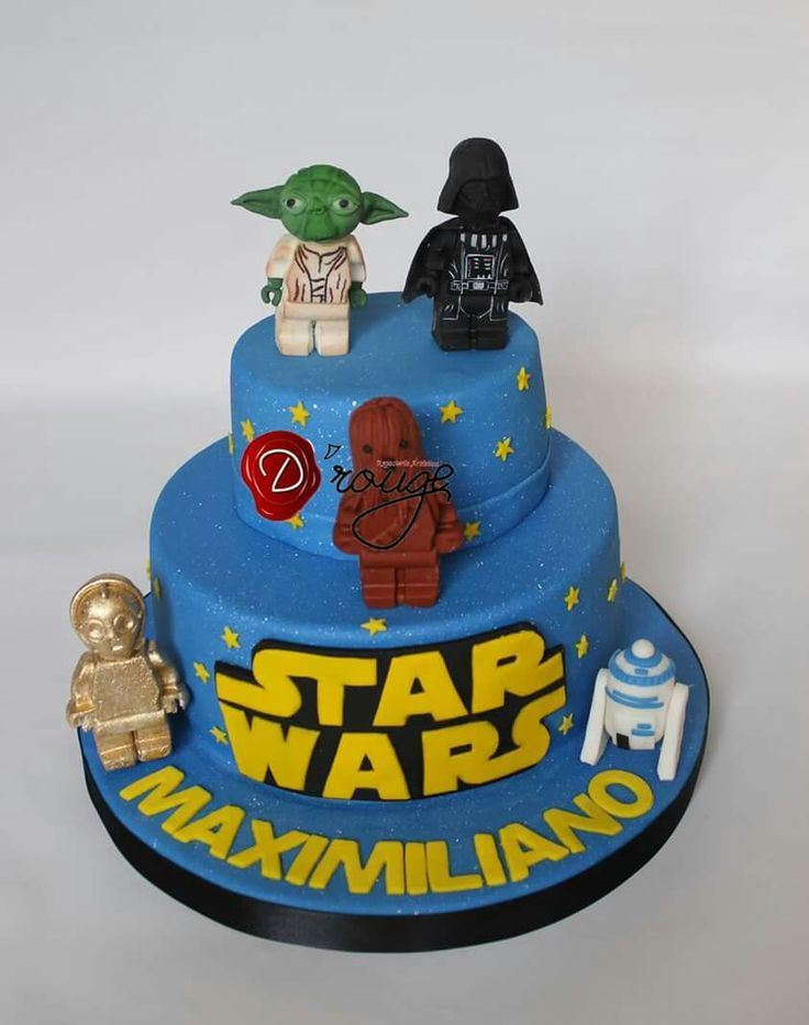 Torta Lego Star Wars 100 % Comestible.