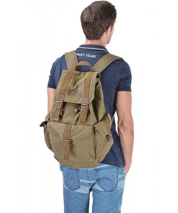 7acb90cbc 21101 Specially High Density Thick Canvas Backpack Rucksack - Army ...