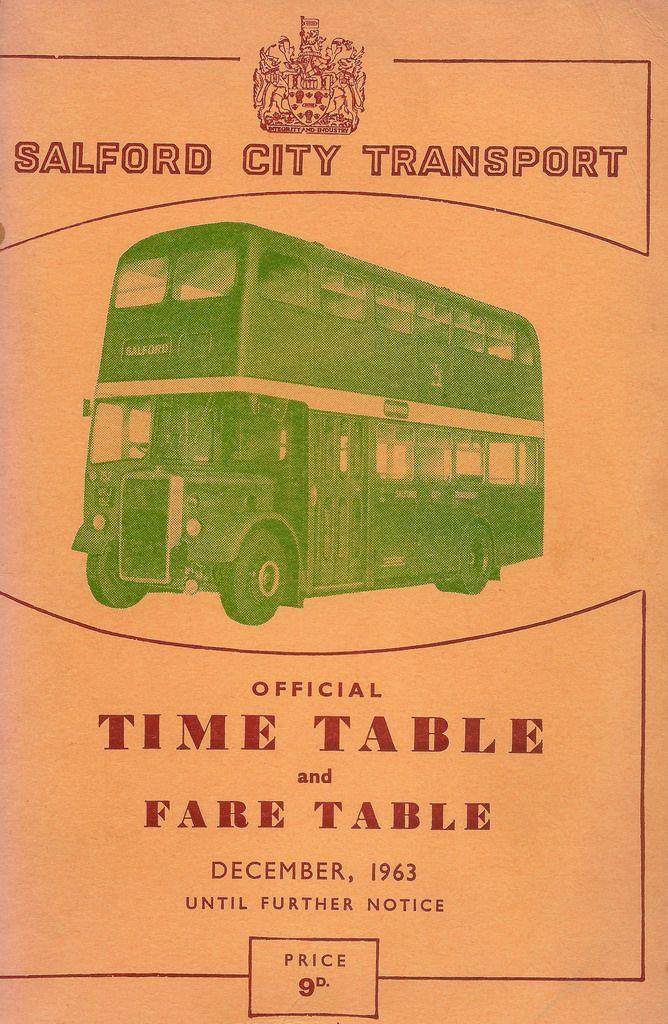 Alle Größen | Cover of Salford City Transport official timetable, December 1963 | Flickr - Fotosharing!