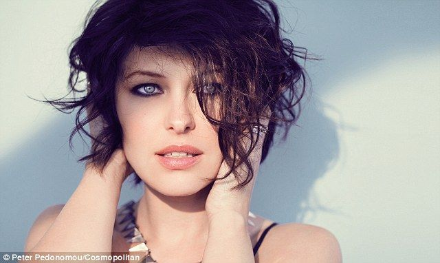 Emma Willis smoulders in the shoot for Cosmopolitan with her frosty blue eyes framed with heavy eyeliner