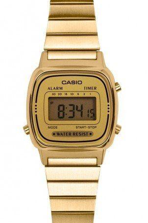 Relogio Casio La670 Dourado C/dourado Mini Retrô La 670 A168 - R$ 150,00