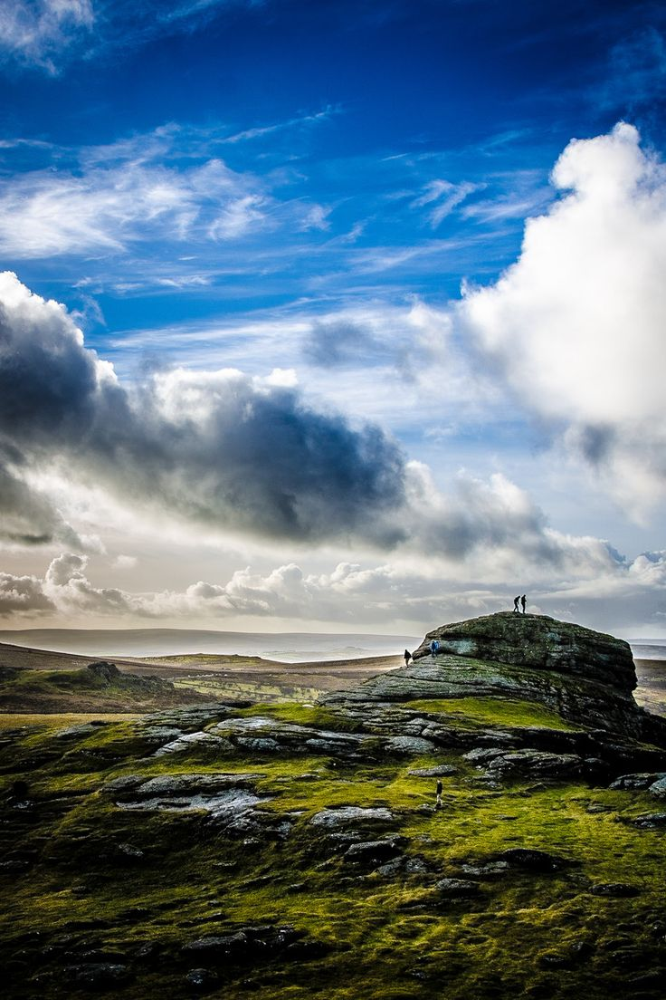 The view across to Saddle Tor, taken from the top of Haytor, Dartmoor, on Boxing Day 2013.