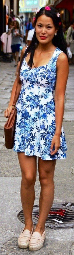 Slip dress with flower print | trends for spring
