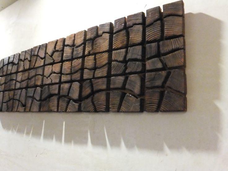 "Unique Wooden Wall Art - 40"" x 12"" x 2"" - Home Decoration - Wooden Art - Pieces Art - Unique Decoration (120.00 USD) by UniqueWoodArtwork"