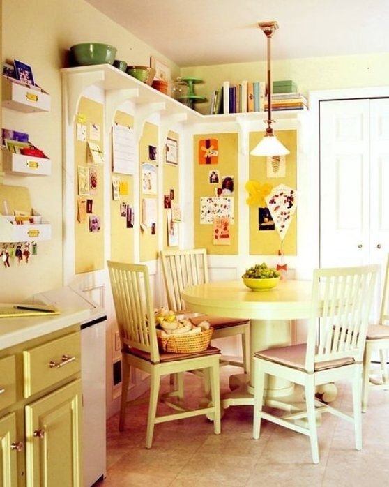 Line the area right underneath the ceiling with shelves. | 27 Lifehacks For Your Tiny Kitchen