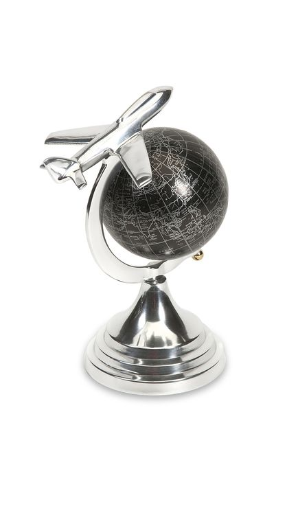 "Hadwin Small Airplane Globe 9.75""""h x 7""""w x 5"""""