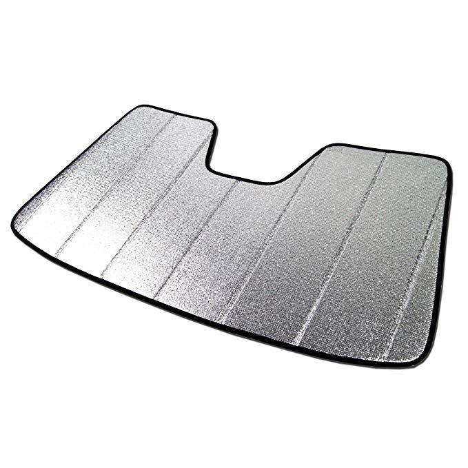Sunshade Visor Silver /& Grey 1-pc Set Compatible With 2013-2019 Nissan Pathfinder R52 Tuningpros SS-276 Custom Fit Car Windshield Sun Shade Protector