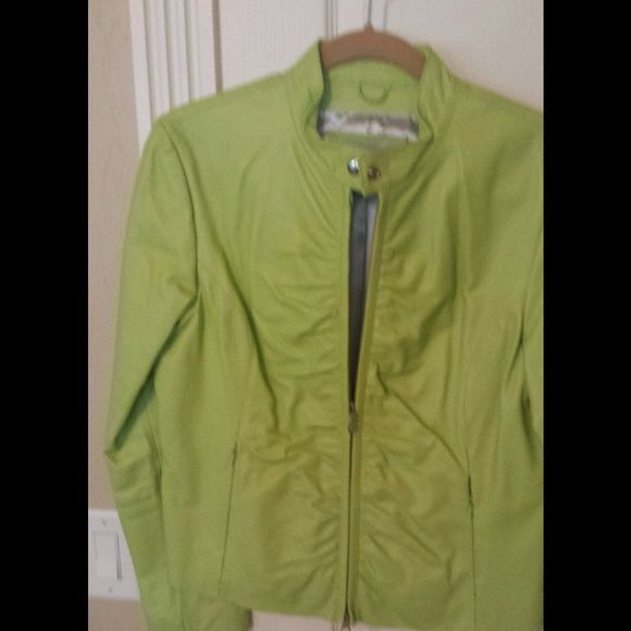 Lime green leather jacket Lime green leather jacket.  Like new.  Used only a twice. Wilsons Leather Jackets & Coats