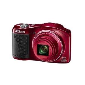 Nikon Coolpix L610 Kompaktkamera (16 Megapixel, 14-fach opt. Zoom, 7,6 cm (3 Zoll) Display) rot