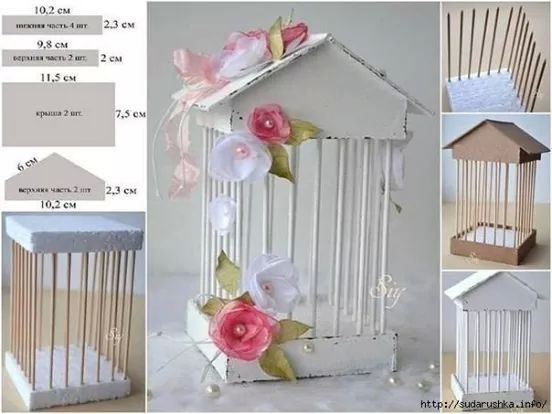 Preciosa casa de pájaros para decorar