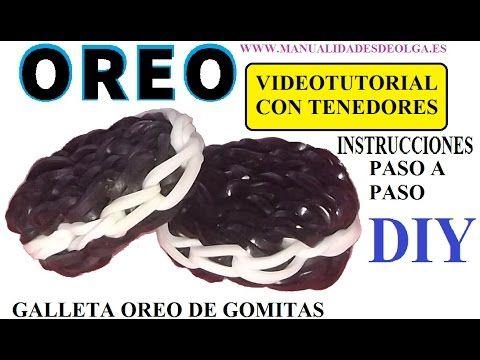 COMO HACER UNA GALLETA OREO DE GOMITAS CON DOS TENEDORES. VIDEO TUTORIAL...