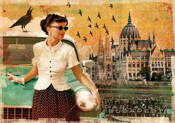 Postcard - Budapest - Parliament. Ft400.00, via Etsy.