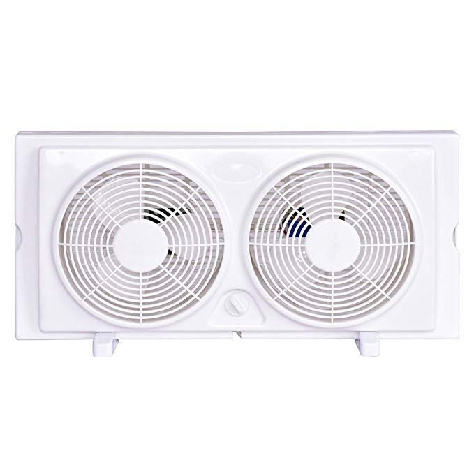 Costway Twin Window Fan 7 2 Speed Setting Reversible Airflow Dual Blade Fan W Manual Control And Removable Legs White Review Window Fans Best Windows Window Air Conditioner