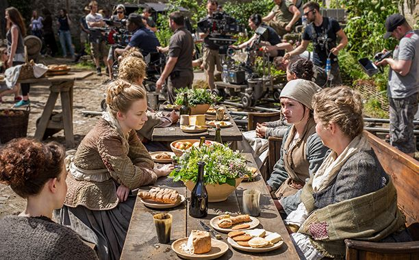 "In Jamie's absence, his sister Jenny has taken on the responsibility of running Lallybroch. To portray her feminine touch, Steele's team adorned the set with rosebushes and assorted plants. ""Everything looks more colorful than in the scenes when Jamie had been beaten,"" says Steele. ""We wanted people to feel that she had taken care of things while he was gone."""