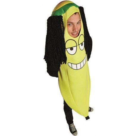 Déguisement banane rasta homme