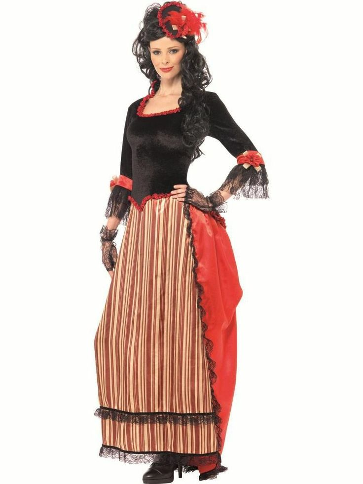 Adult Authentic Wild West Western Saloon Sweetheart Ladies Fancy Dress Costume