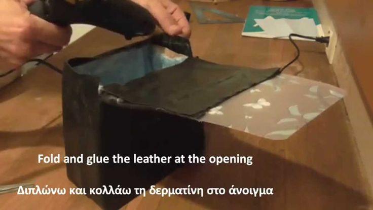 How to make a rigid bag-Part 2. The lid Πως φτιάχνω μια άκαμπτη τσάντα-Μέρος 2. Το καπάκι