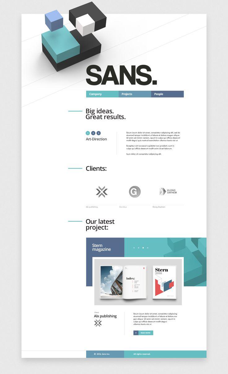 SANS web project Ui design concept by Mike | Creative mints.