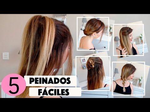 Peinados Faciles Y Rapidos I Easy Hairstyle I Peinados Para Diario
