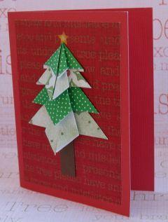 AKTIVITY S DĚTMI - Vánoční přání - origami stromeček