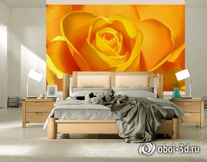 "3D Фотообои ""Желтая роза"""