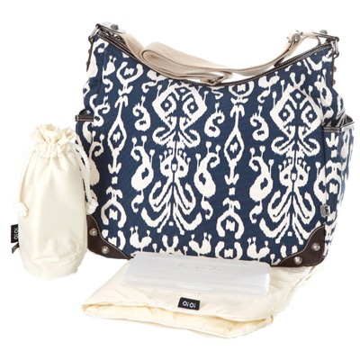 Organic diaper bag.  Good for baby shower gift!