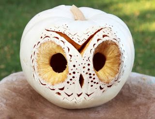 white owl carved pumpkin                                                                                                                                                                                 More