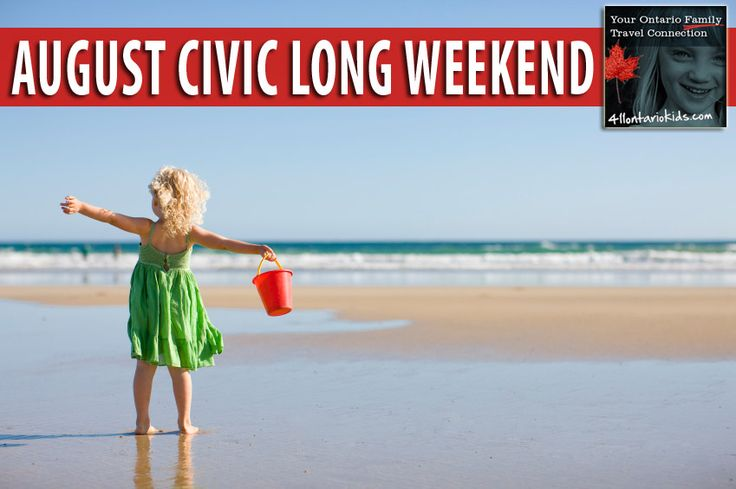 Events, activities and getaways for families looking for day trip or overnight holidays in areas north of Toronto, Ontario. http://411ontariokids.com/index.php/things-to-do/ontario-holidays/civic-day-august-long-weekend