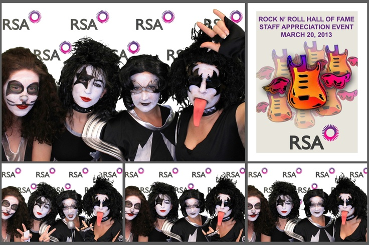 Great Photostrip Layout for Rock n' Roll Hall of Fame Staff Appreciation Event for RSA! #greenscreen #kiss #rockn'rollhalloffame